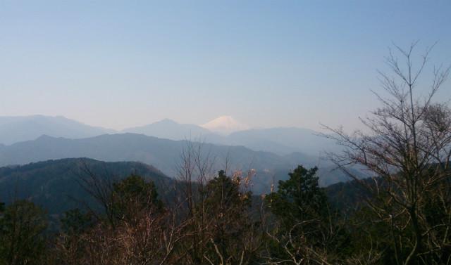 高尾山 山頂 富士山